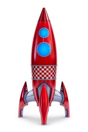 raumschiff: Raketen rot-Konzept