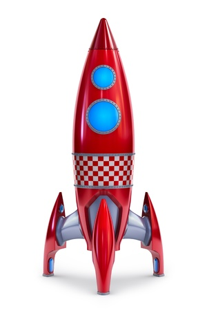 Red rocket concept Stock Photo - 9959860