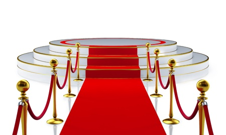 carpet: Round Stage with Red Carpet