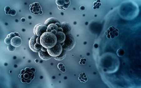 nano: Bacteria SEM concept 3d illustration