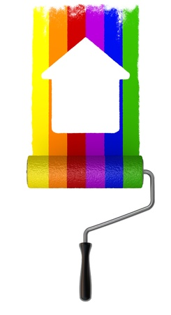 wheel house: Rainbow Paint roller