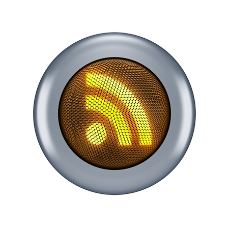syndicated: RSS button concept  Stock Photo
