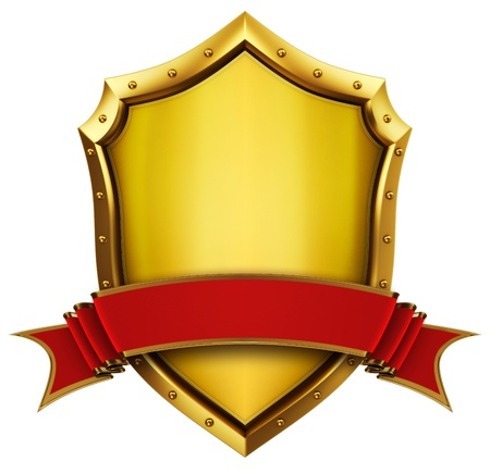 escudo militar: Goldeb Escudo con cinta
