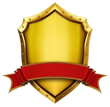 Goldeb Shield with ribbon