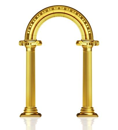 Golden arch  Stock Photo