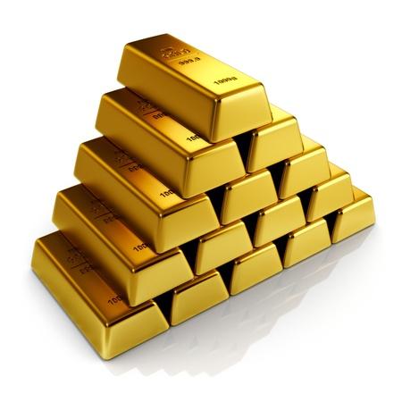 raw gold: Gold bars