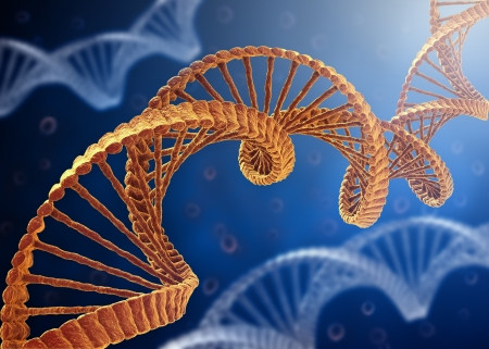 genetic research: DNA Concept
