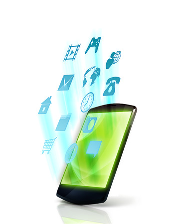 Smartphone with apps icons