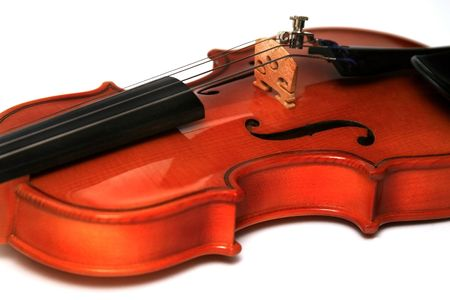 masterly: Violin on a white background. The size 116 Stock Photo