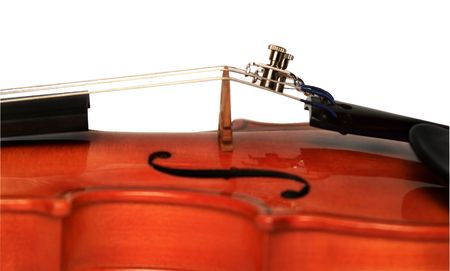 Violin on a white background. The size 1/16 Stock Photo - 2210595