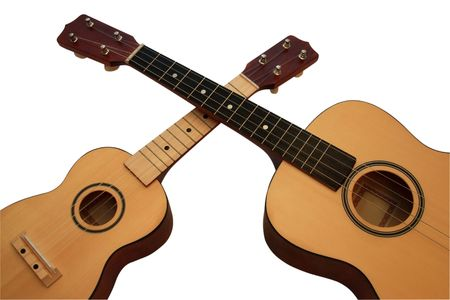 acoustic ukulele: UKULELE a-small acoustic guitar. It is isolated on a white background