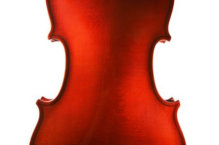 masterly: One violin separately on a white background. A detail Stock Photo