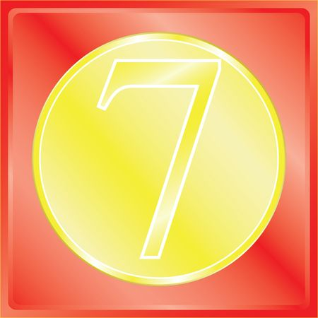 numerology: series of illustrations with numbers from 0 up to 9