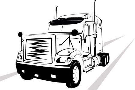 vector wheel: Vector-illustration of the big truck on a white background