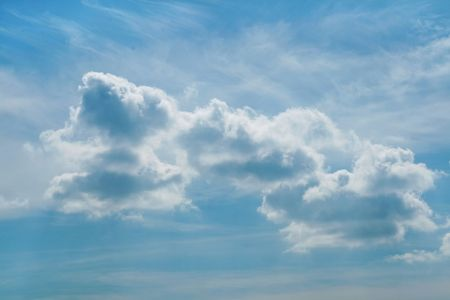 atmospheric phenomena: Clouds above city after a strong thunder-storm
