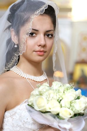 Portrait of the beautiful bride Stock Photo - 3828756
