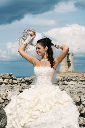 Portrait of the beautiful bride Stock Photo - 3828793