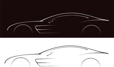 sports form: Serie Vector. sport prestigiosi macchina � isolato su sfondo bianco