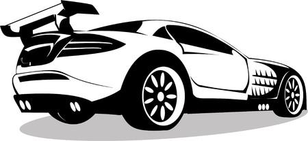 Vector series. prestigious sports machine is isolated on white background photo