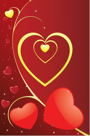 Vector. Heart ornament background Banque d'images - 4024832