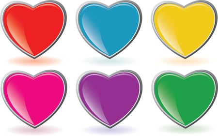 Vector buttons like heart for web-site photo
