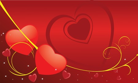 Abstract colour hearts. Valentine Day Stock Photo - 4024835