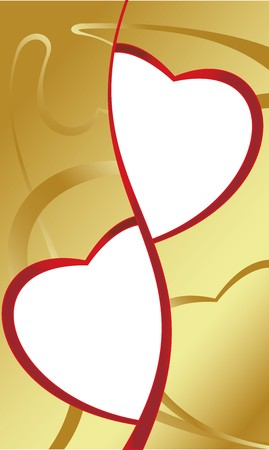 Vector. Heart ornament background. Valentines day photo