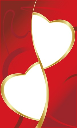 Vector. Heart ornament background. Valentine's day Stock Photo - 4112640