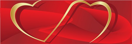 Vector. Heart ornament background. Valentine's day Stock Photo - 4127183