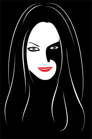 Vector. A series of images of young and beautiful girls. Stock Vector - 4481406