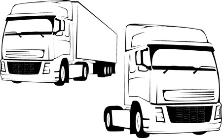 vector tyre: Vector-illustration of the big truck on a white background