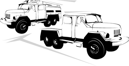 Vector-illustration of the big truck on a white background illustration