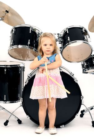 photo series in style rock-n-roll with the little girl photo
