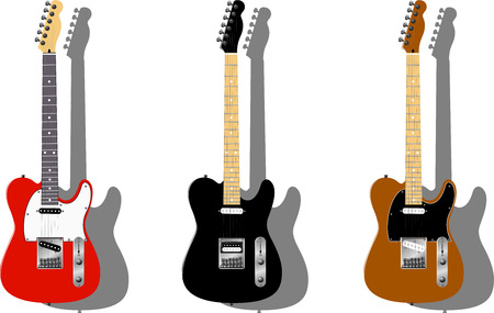 Vector series. Electric guitar isolated on white background