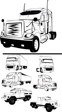 -illustration of the big truck on a white background Stock Illustration - 5093519