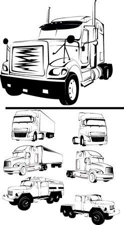-illustration of the big truck on a white background illustration