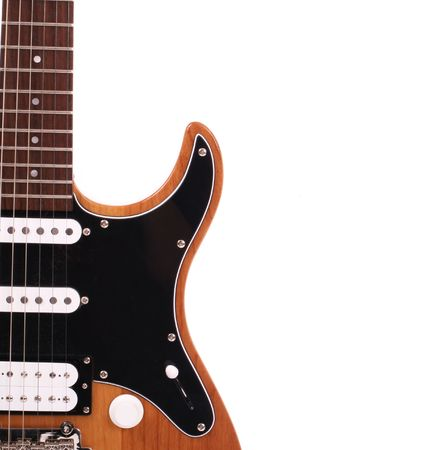 tremolo: Series. Electric guitar isolated on white background
