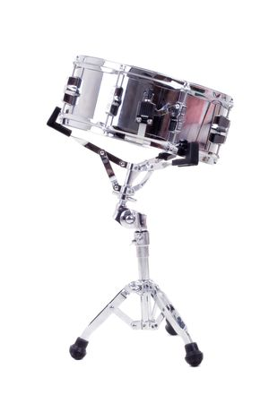 snare: Series. Silver snare drum isolated on a white background