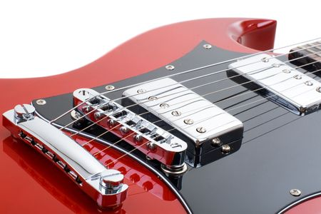 silver maple: Series. Electric guitar isolated on white background