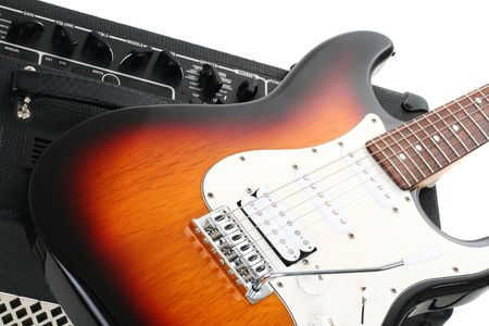 Series. guitar amplifier and electricguitar photo