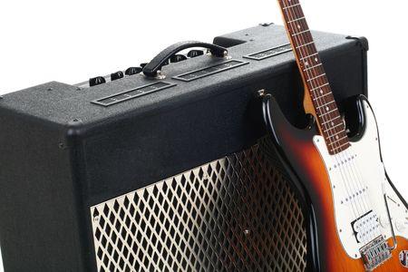 tremolo: Series. guitar amplifier and electricguitar