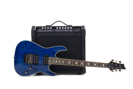 Series. guitar amplifier and electric-guitar photo