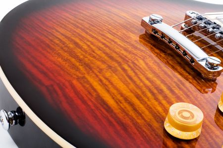Series. electric guitar isolated on white background photo