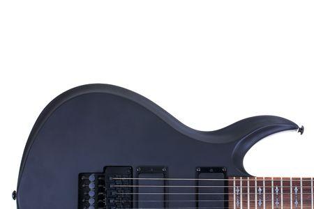 tremolo: Serie. chitarra elettrica isolata on white background