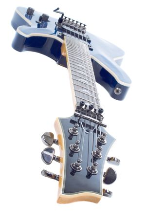 tremolo: Series. electric guitar isolated on white background Stock Photo