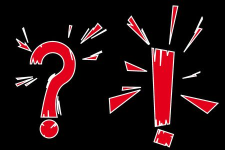 vector series. exclamation and question sign Stock Photo - 6093787