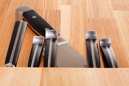 Series. Set of kitchen knifes