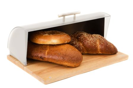 big bin: big series of images of kitchen ware. bread bin Stock Photo