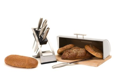 big series of images of kitchen ware. bread bin Stock Photo - 6439069