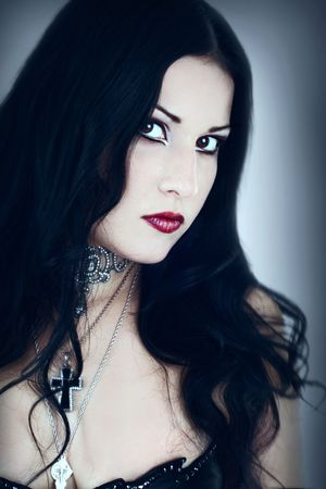 A series. A portrait of the girl in Gothic style photo